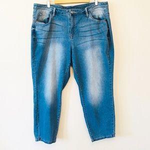 Lane Bryant plus Size 22 stretch crop jeans